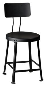 "One Ton Stool with Back - 18"" H-0"