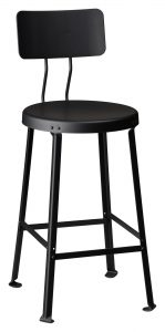 "One Ton Stool with Back - 24"" H-1762"