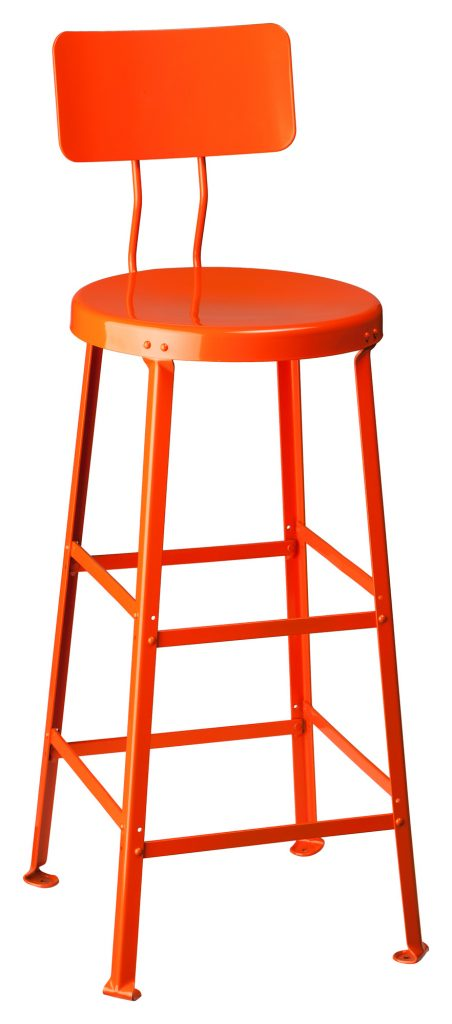 Commercial Grade Bar Stool One Ton Stool With Back Crow