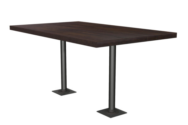Double Fixed Post Table-2116