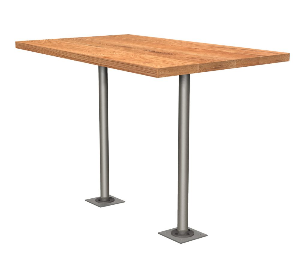 Double Fixed Post Table 2124