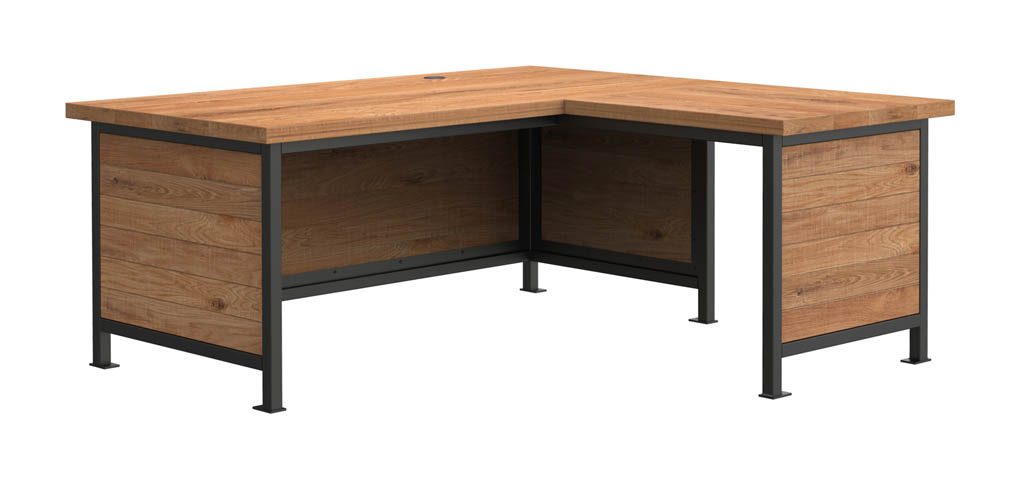 Industrial office furniture l shaped desk crow works - Industrial office desk ...