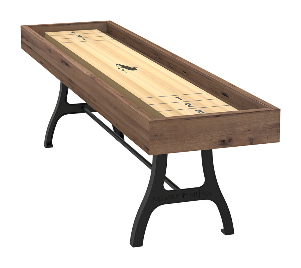 reclaimed oak shuffleboard industrial office furniture