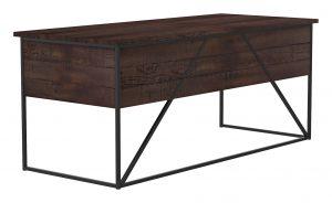 Geometric Desk_30 x 72 x 30H_Bourbon_Gunmetal_Perspective