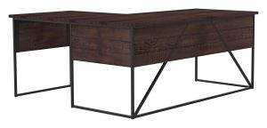 Geometric L Shaped Desk_30 x 72 x 30H_Bourboun_Gunmetal_Perspective