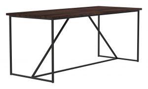 Geometric Table_30 x 72 x 30H_Bourbon_Gunmetal_Perspective