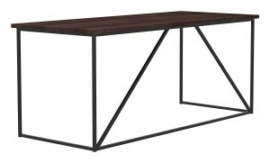 Geometric Workstation_30 x 72 x 30H_Bourboun_Gunmetal_Perspective