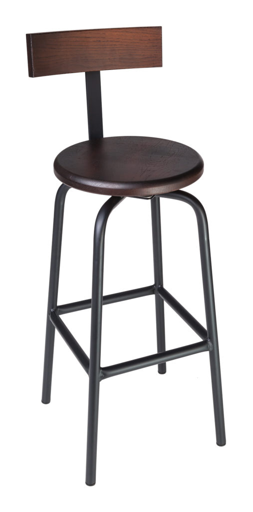 Bar Stools Swivel Pub Stool With Back Crow Works