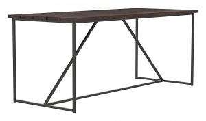 Outdoor Geometric Table_30 x 72 x 30H_Bourbon_Gunmetal_Perspective