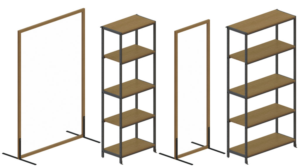 Partitions and Pickup Shelves