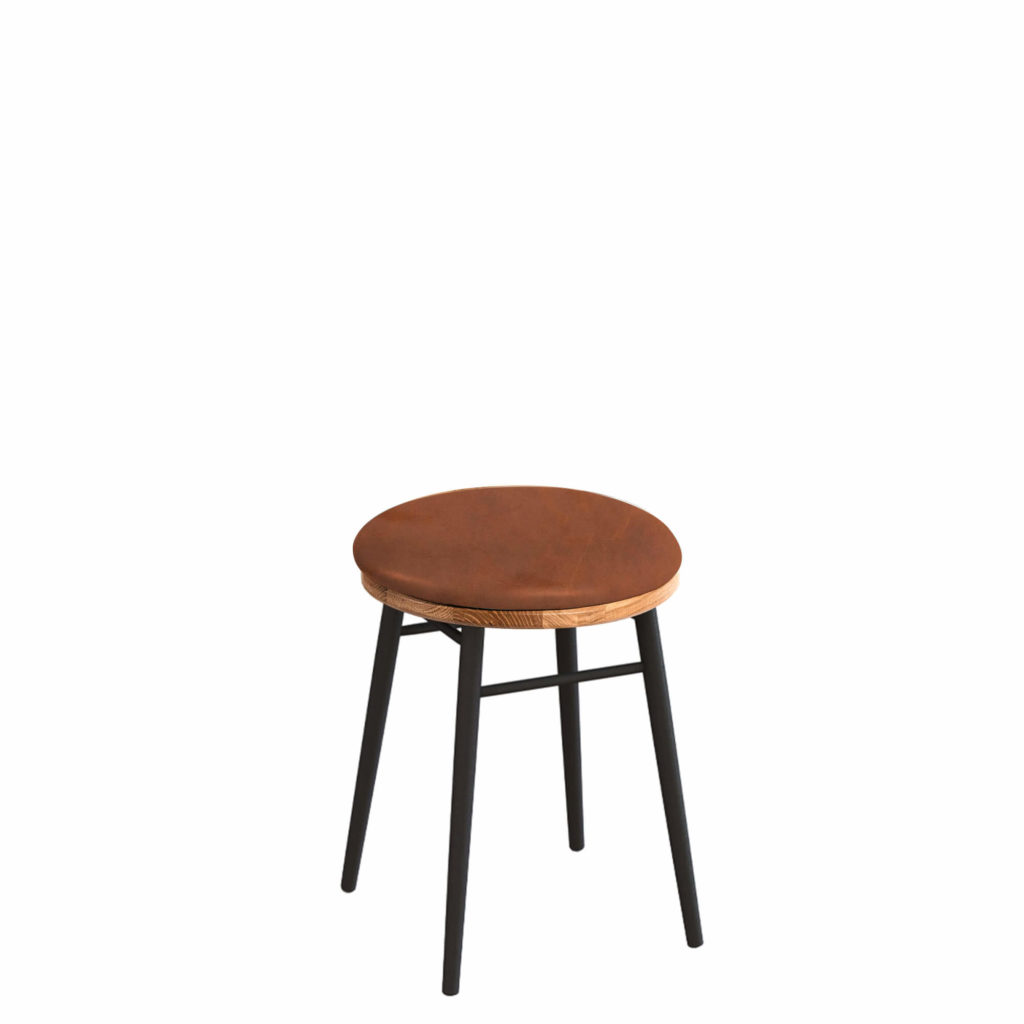 union stool upholstered 18 LT GM - Crow Works