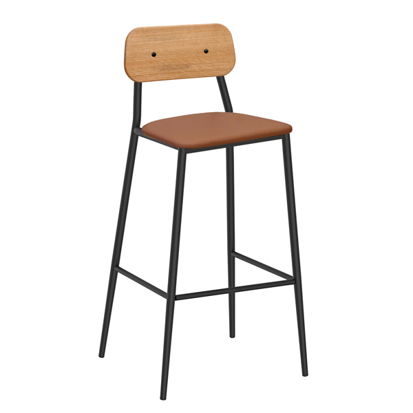 Dalton Stool with Upholstered Seat