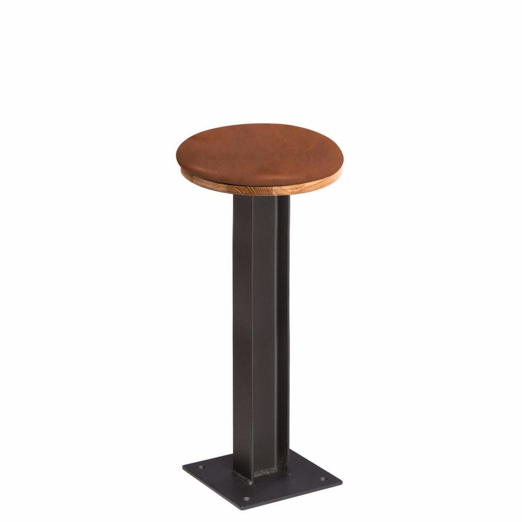 i beam stool upholstery 18 LT GM - Crow Works