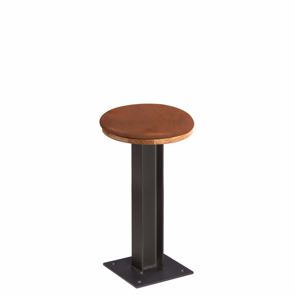 i beam stool upholstery 24 LT GM - Crow Works