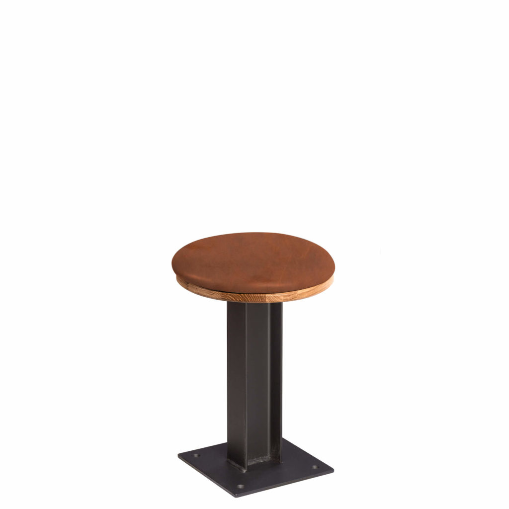 i beam stool upholstery 30 LT GM - Crow Works