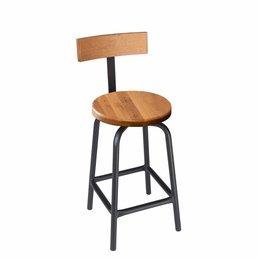 pub stool back 24 LT GM - Crow Works