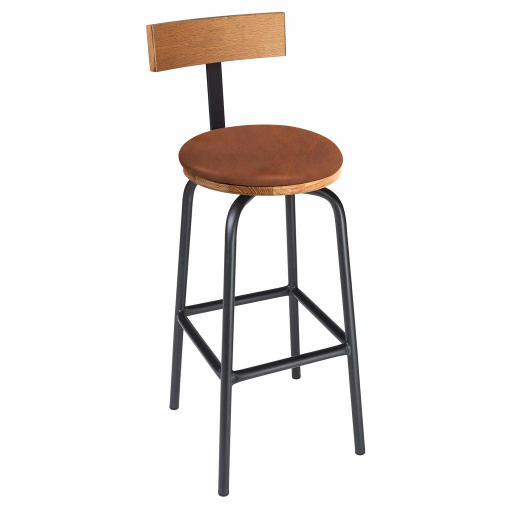 pub stool back upholstery 30 LT GM - Crow Works