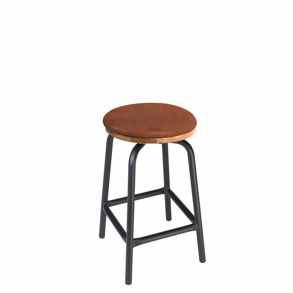 pub stool upholstery 24 LT GM - Crow Works