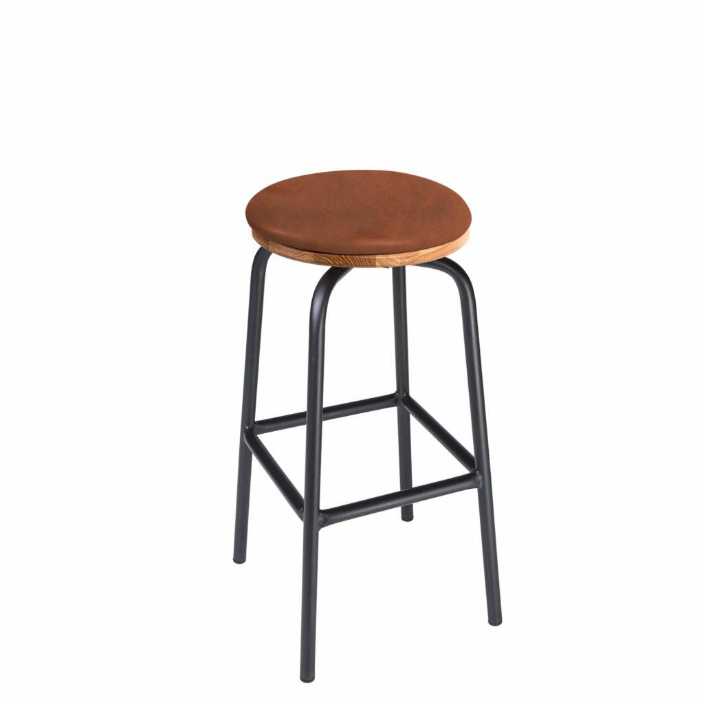 pub stool upholstery 30 LT GM - Crow Works