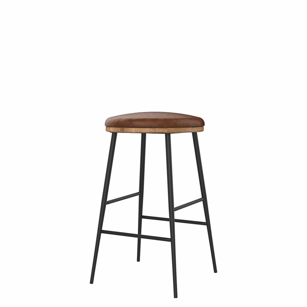 union stool upholstery 24 LT GM - Crow Works