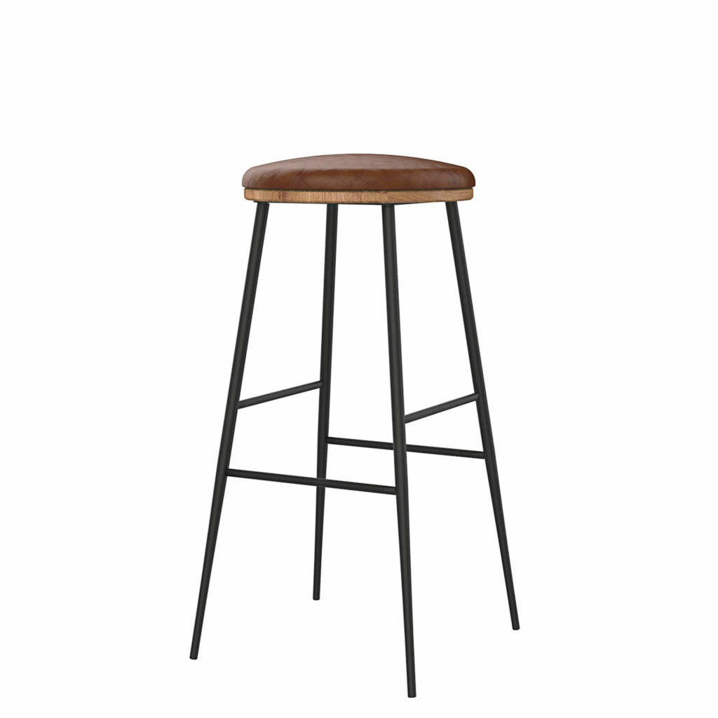 union stool upholstery 30 LT GM - Crow Works