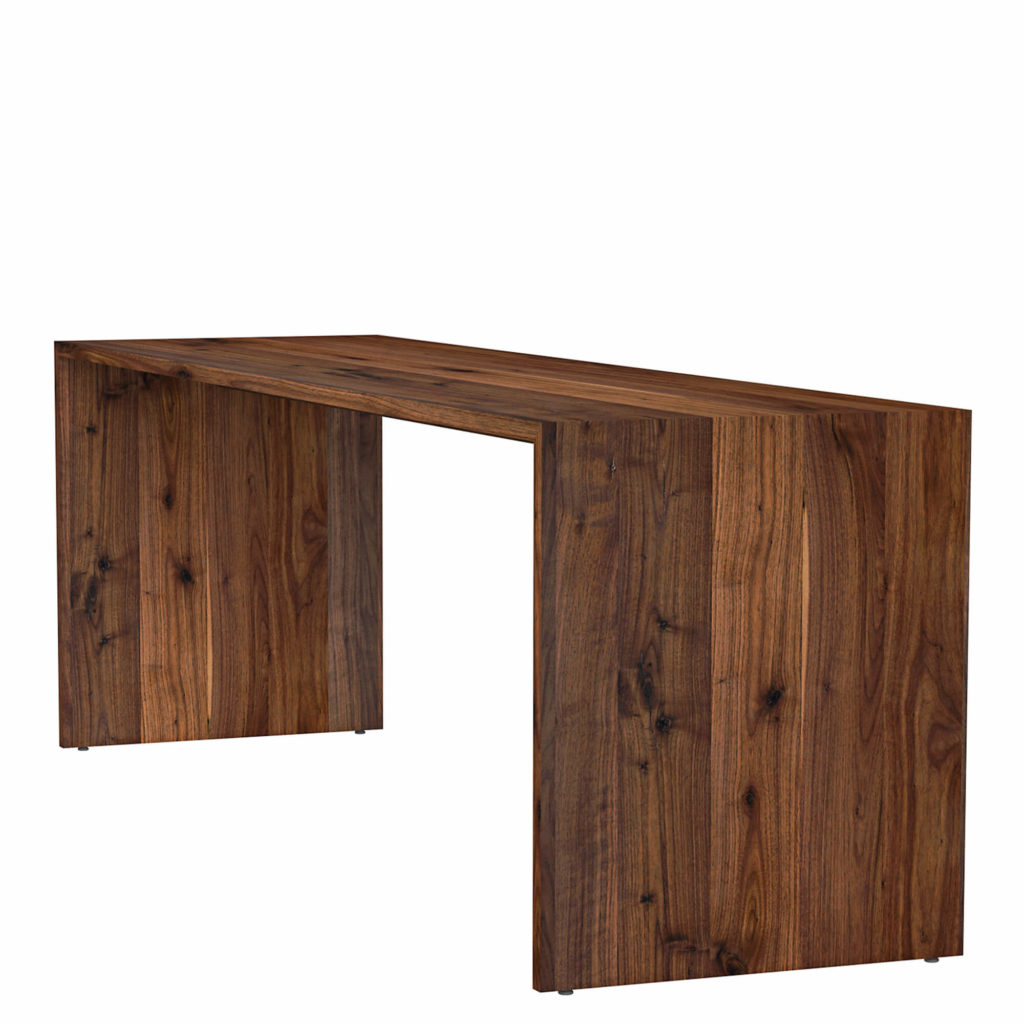 waterfall counter table walnut - Crow Works