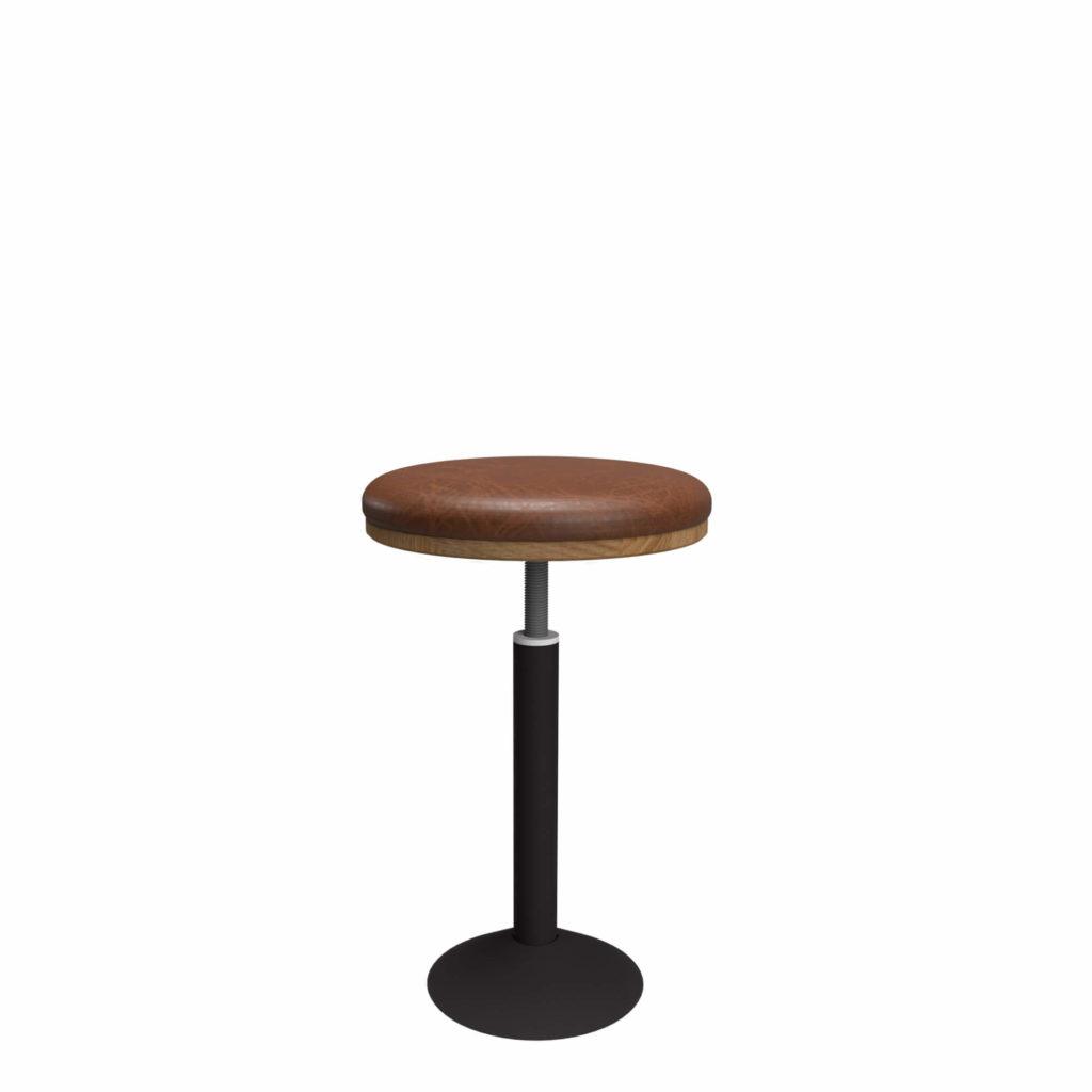 glenmont stool upholstery 21 LT GM - Crow Works