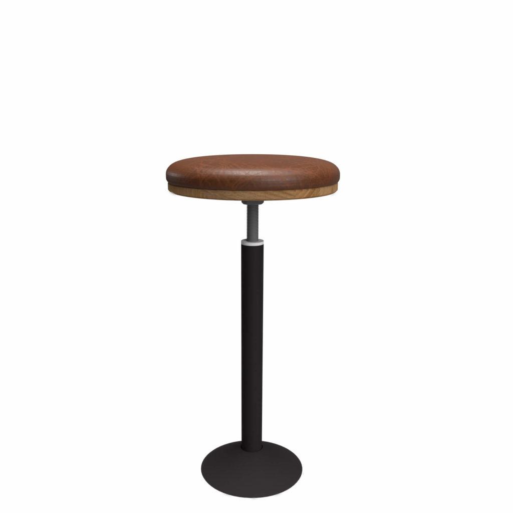 glenmont stool upholstery 27 LT GM - Crow Works