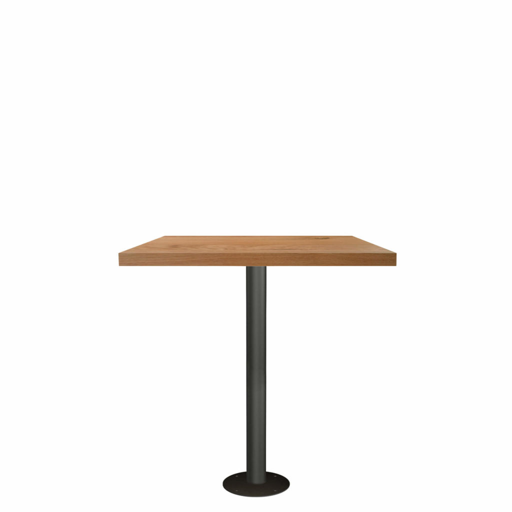 fixed post dining table LT GM square - Crow Works