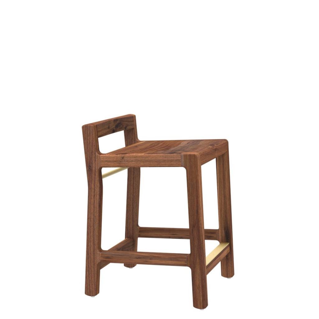 spencer stool 22 walnut - Crow Works
