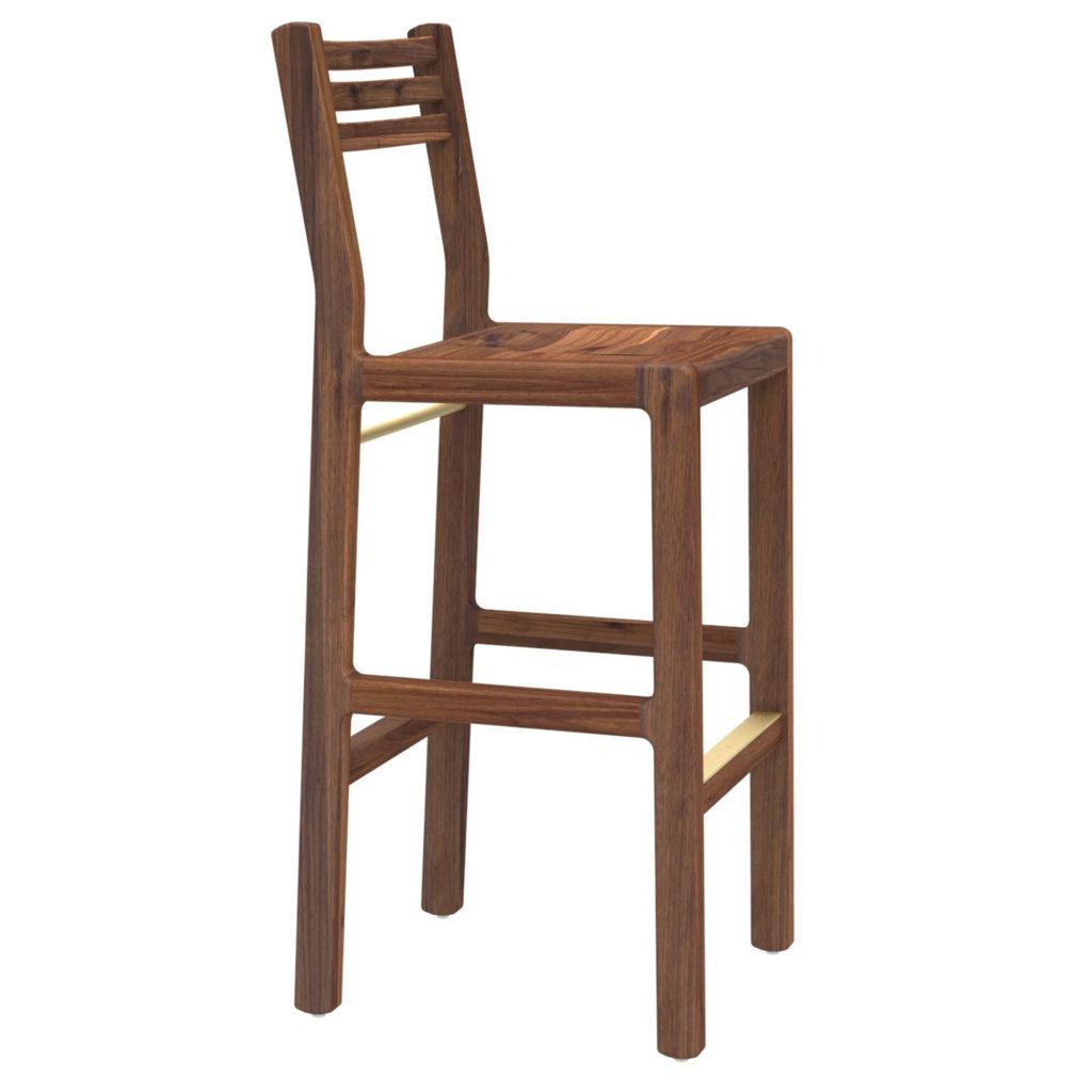 spencer stool 30 walnut - Crow Works